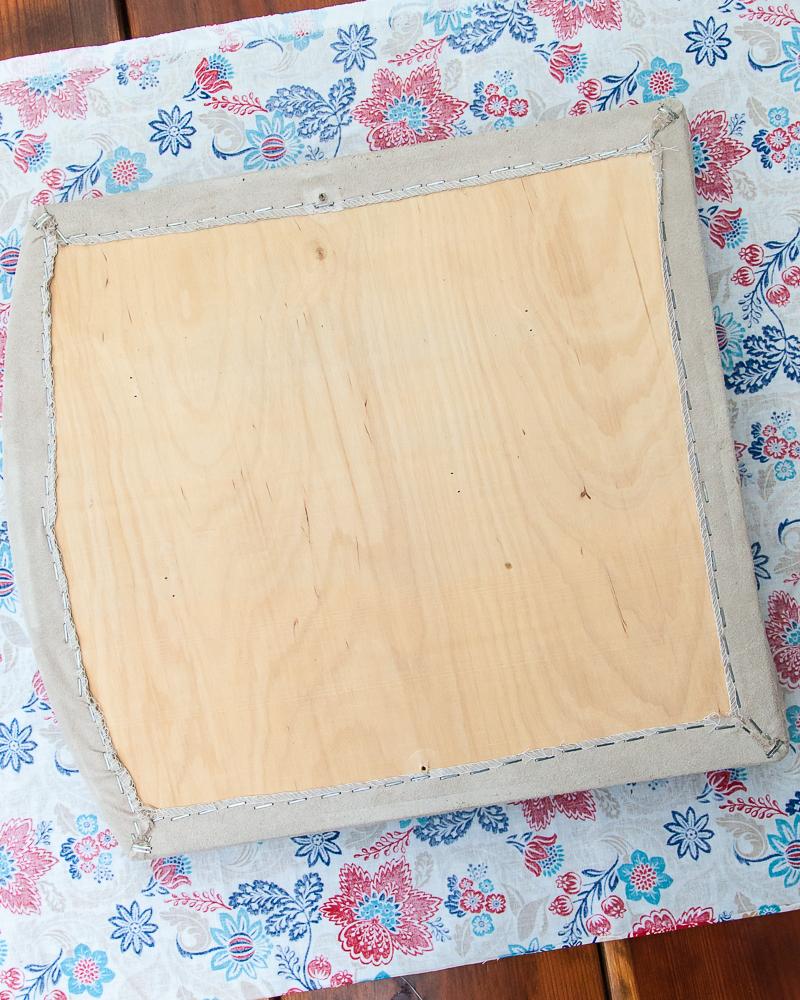 cut fabric seat cushion