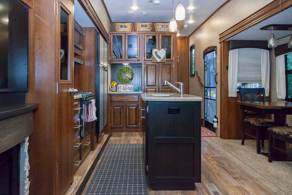 rv storage ideas wide shot kitchen decor