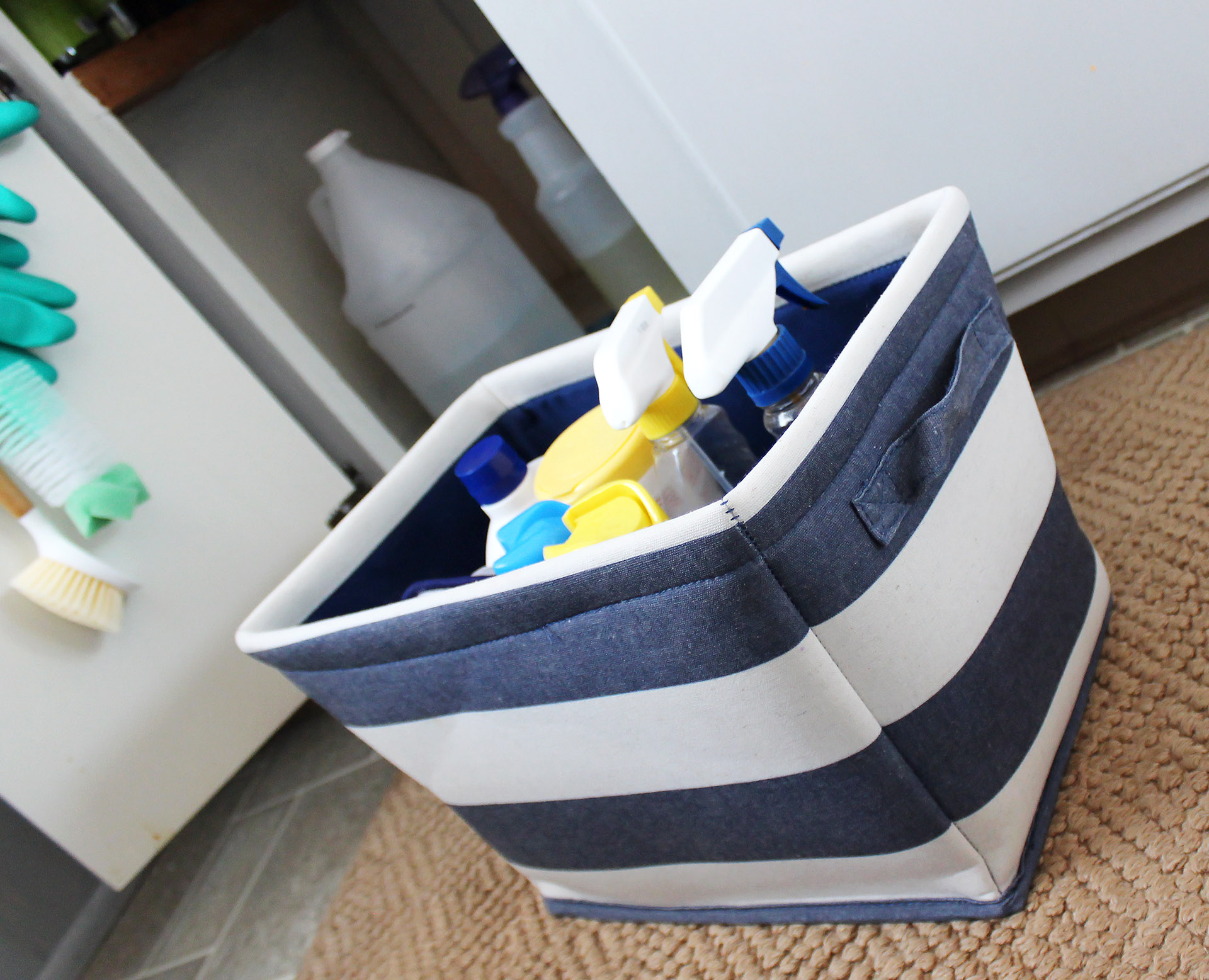 How To Organize Cleaning Supplies Under Kitchen Sink