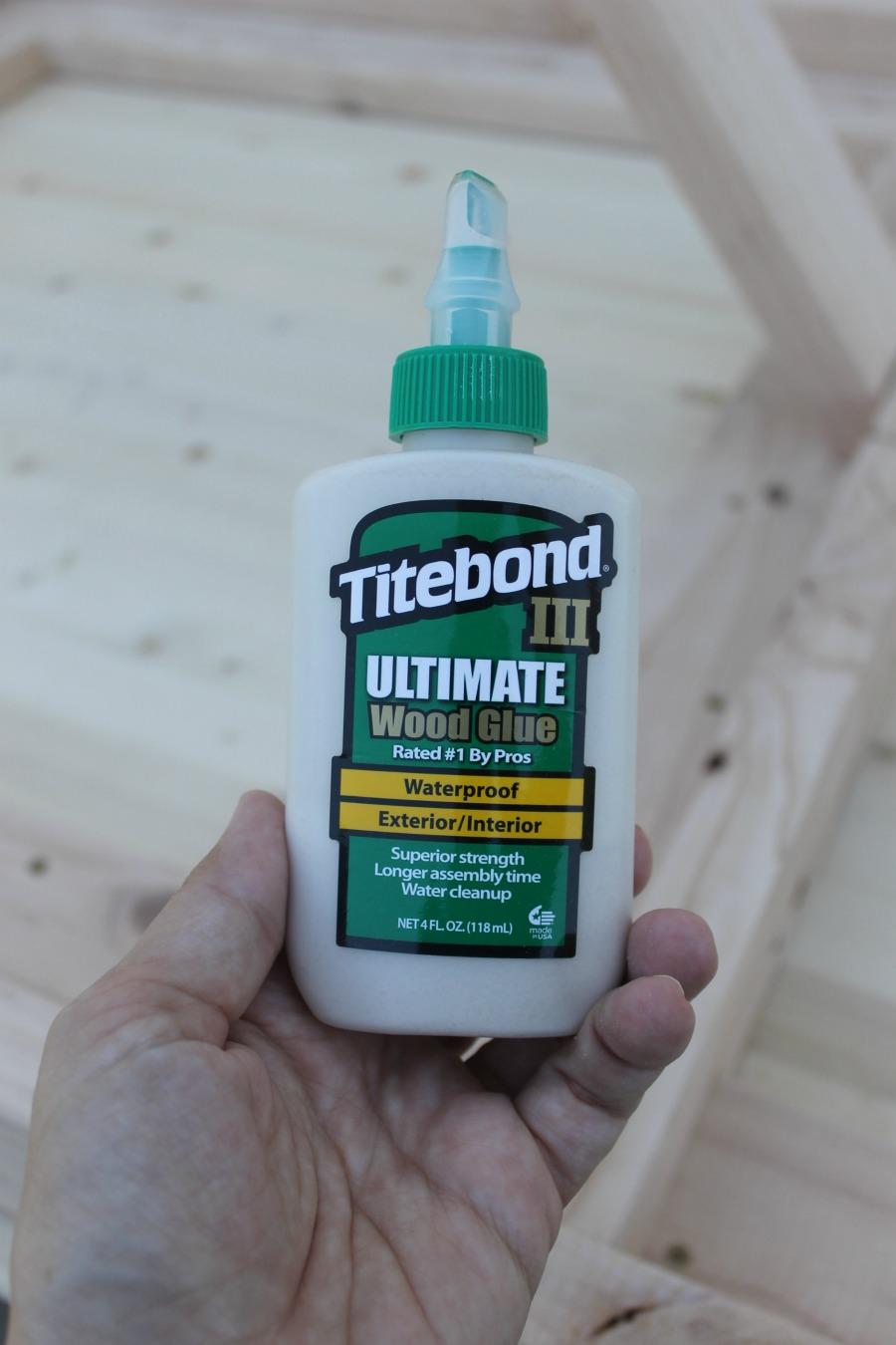 titebond wood glue - how to build a modern DIY farmhouse table