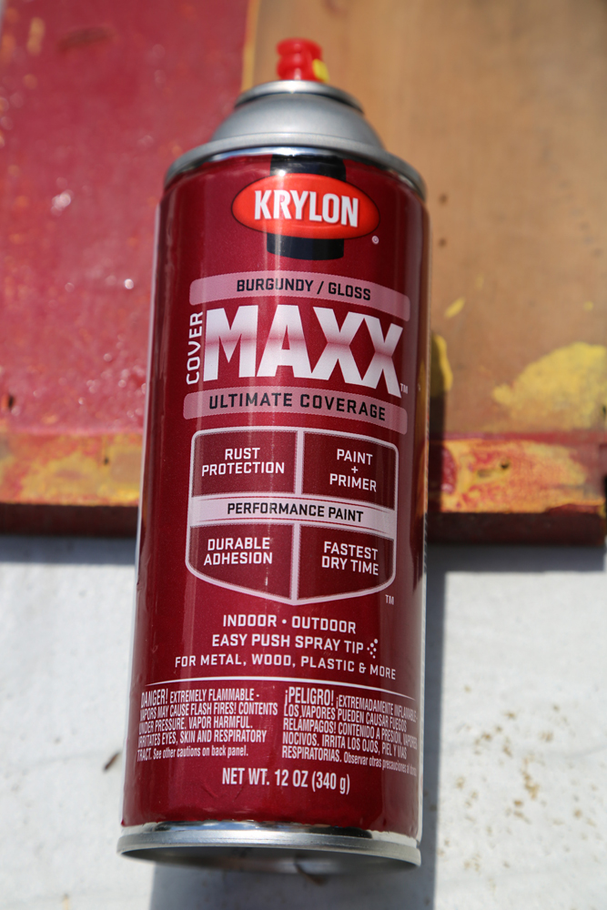 krylon maxx red spray paint diy pool toy storage rack