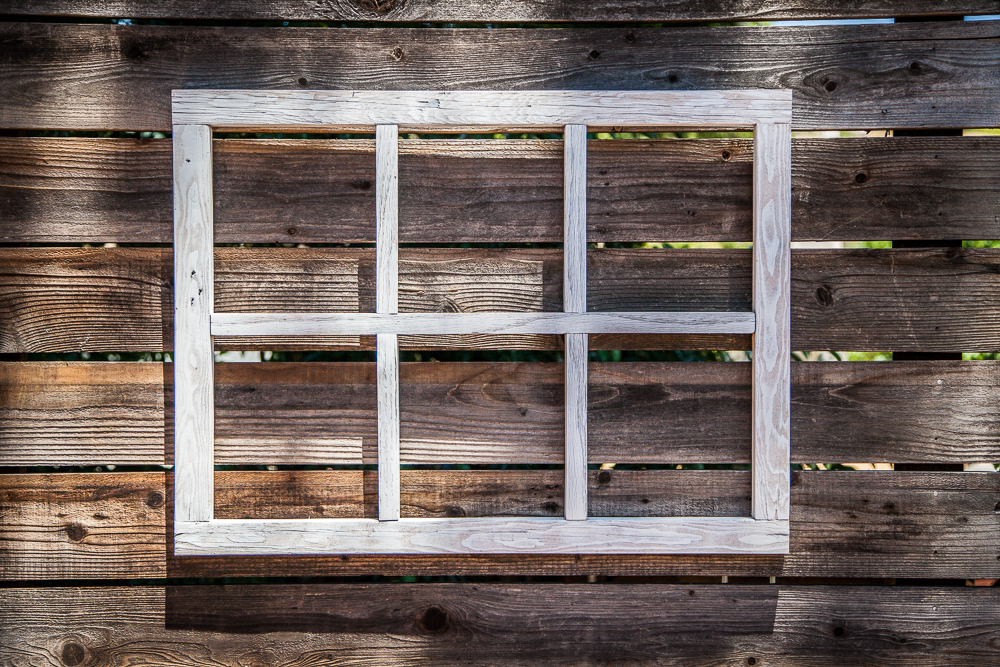 How To Make a DIY Window Frame - Farmhouse Style - Life Storage Blog