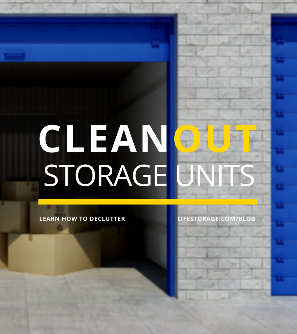How to clean out a storage unit, step by step