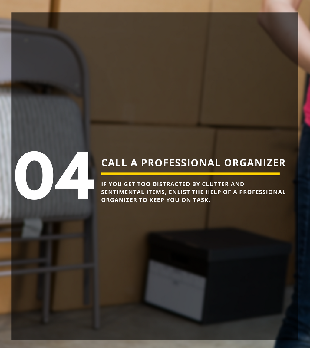 when to call a professional organizer while cleaning out storage unit
