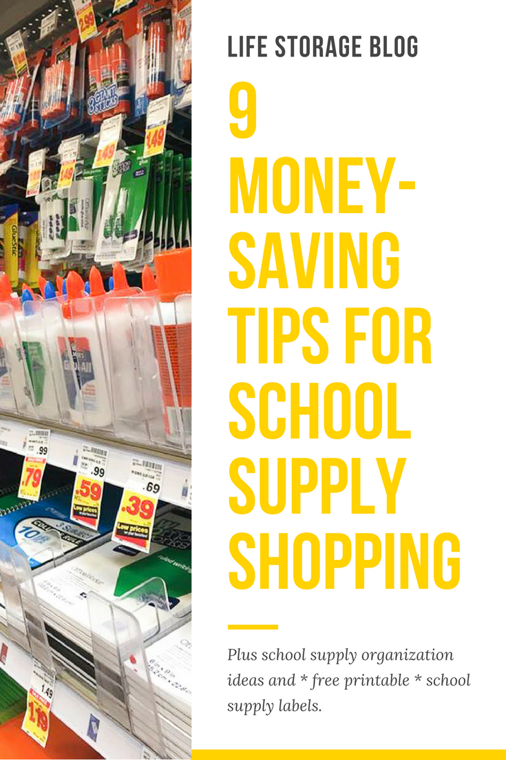 How to Organize School Supplies and Save Money - pin