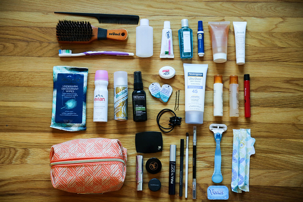 toiletries - how to pack for europe in a carry on