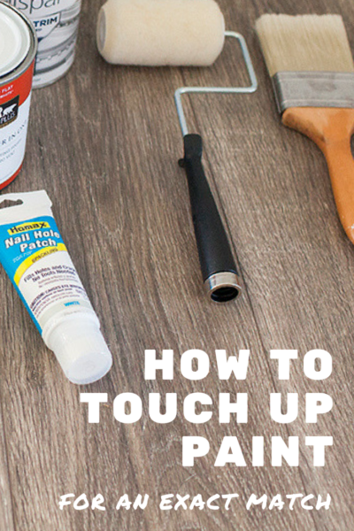 How to Touch Up Paint for an Exact Match Pinterest