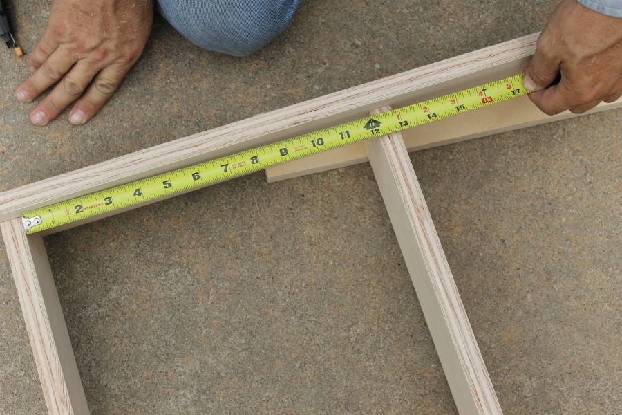 """measure shelves 13"""" inches apart - simple diy bookshelf, diy bookcase, diy bookshelf, diy bookshelf ideas, wood bookshelf diy"""