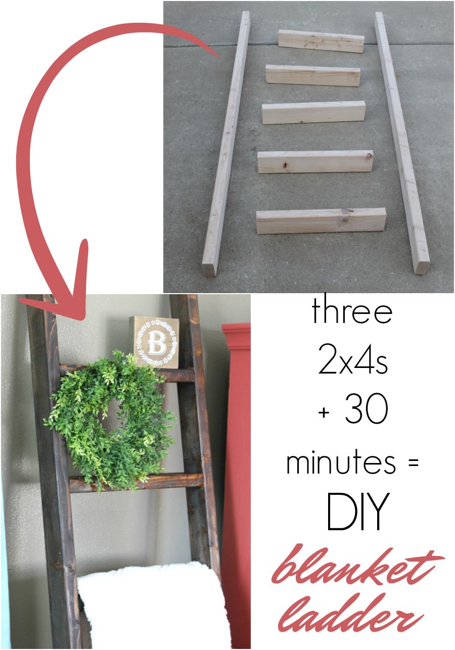 How To Make A Diy Blanket Ladder For Just 10 Life Storage Blog