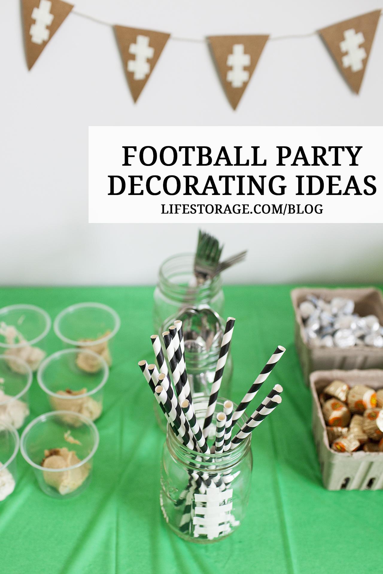 Football party decor ideas - Mason jar DIY