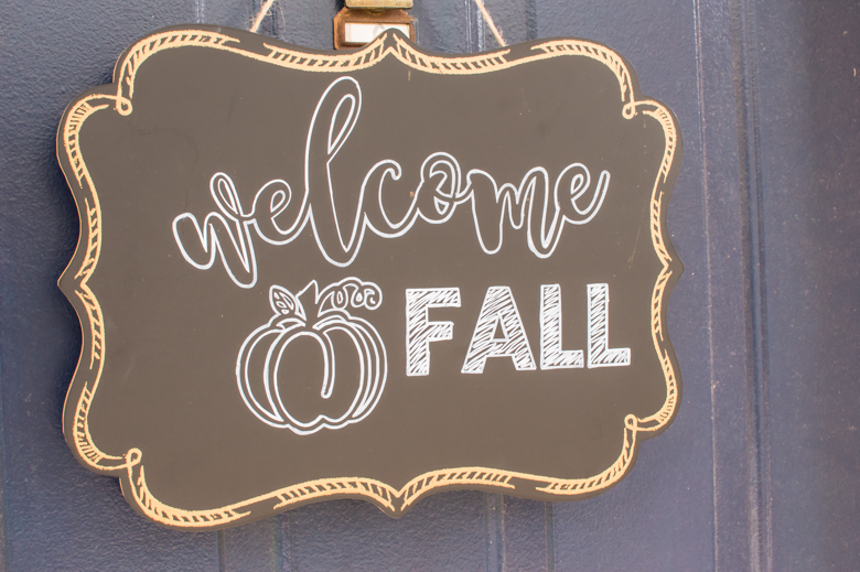 Cheap welcome fall door sign