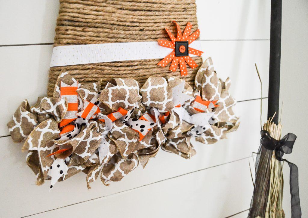 Witch hat DIY wreath alternative for fall decor