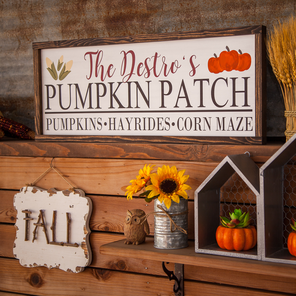 Outdoor Fall Decorating Ideas - festive signs
