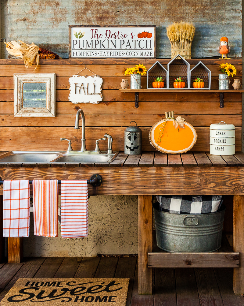 Outdoor Fall Decorating Ideas - outdoor sink