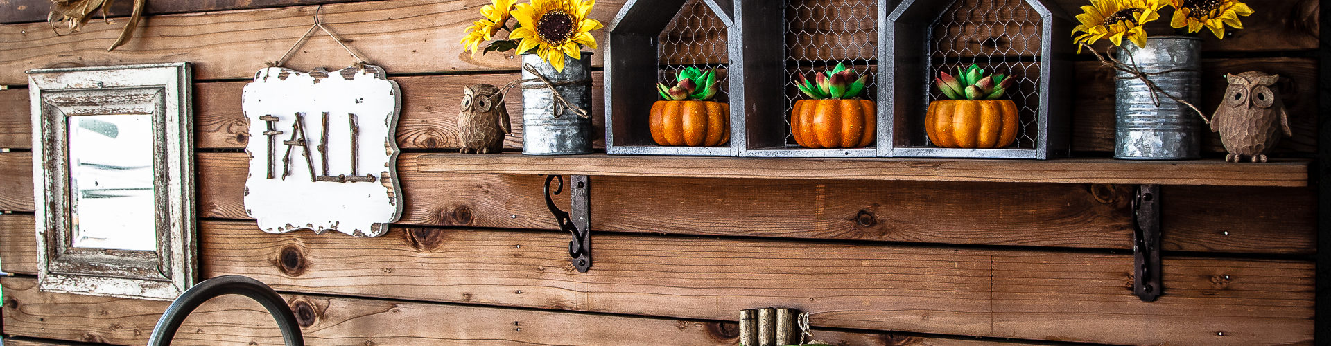 Outdoor Fall Decorating Ideas - outdoor sink decor