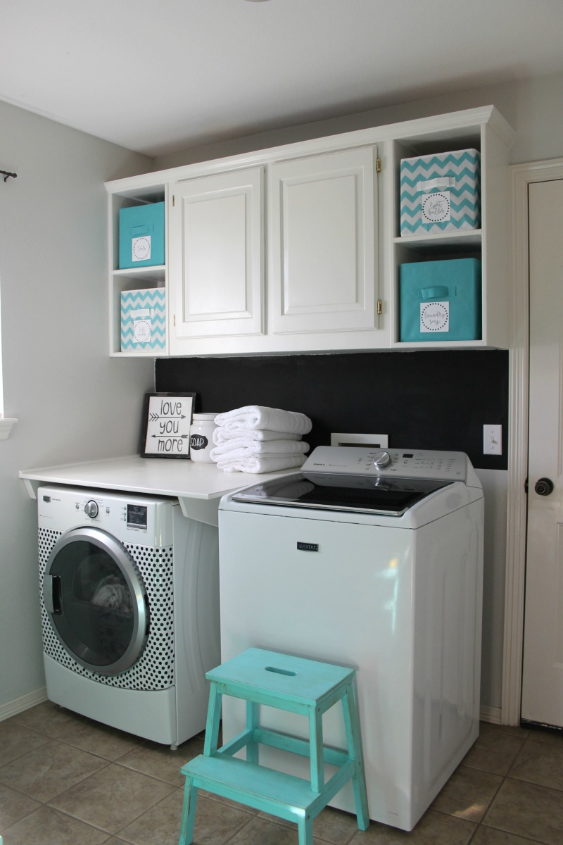 Basement organization idea for laundry room