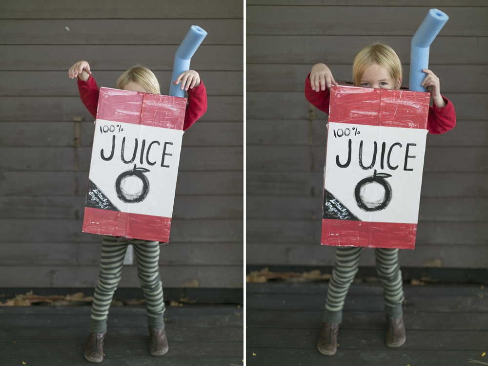 Halloween costume cardboard box ideas juice box