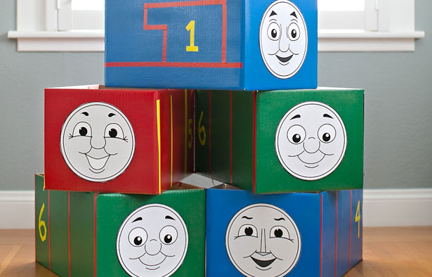 Halloween costume cardboard box ideas thomas and friends