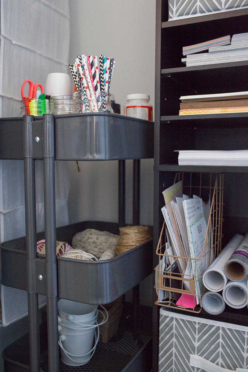 Good Craft Closet Organization Ideas Part - 5: Utility Cart For Craft Closet Organization