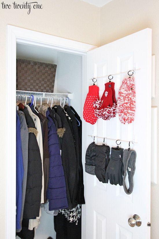 Hall Closet Organization And Storage Ideas: Behind The Door Gloves