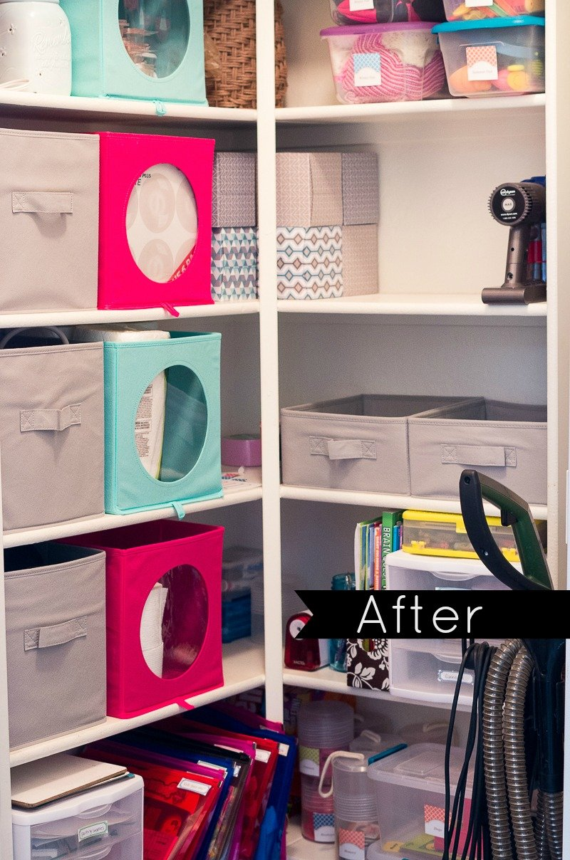 hall closet organization and storage ideas - makeover after