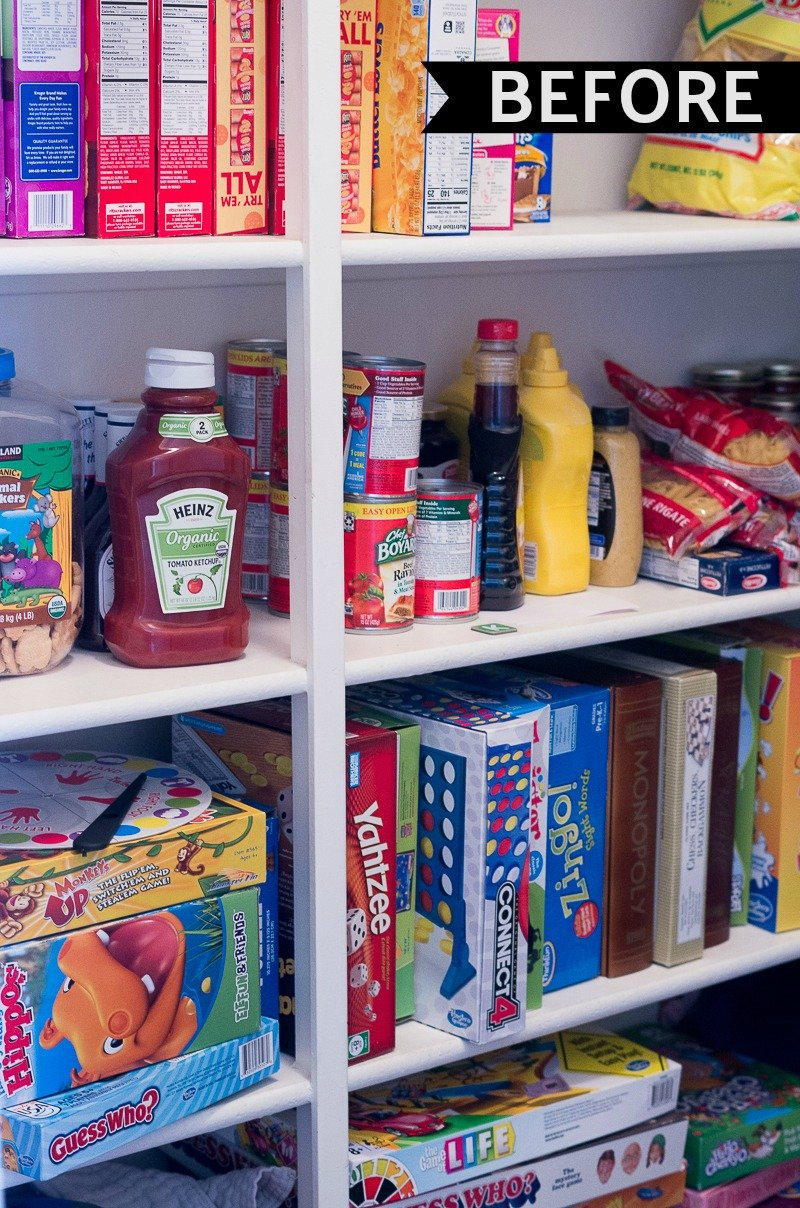 hall closet organization and storage ideas - makeover after - pantry