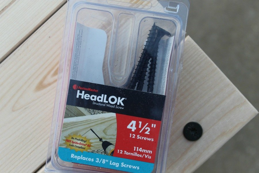 DIY console table tutorial brad HeadLOK screws
