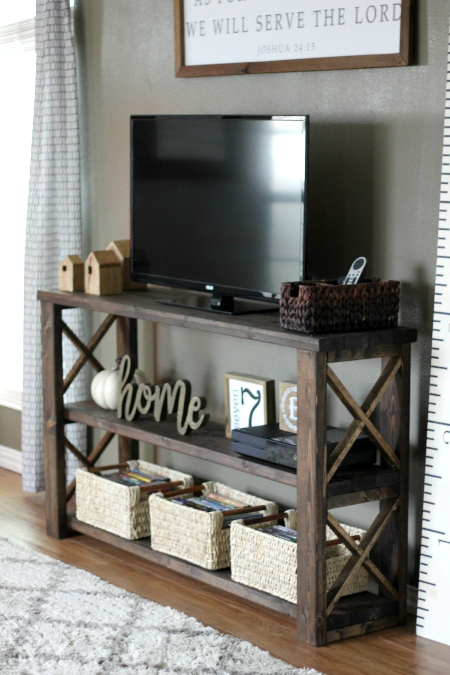 How To Build A Diy Console Table For 50 Or Less