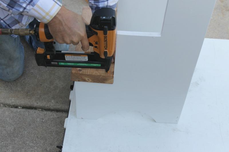 nail gun diy step stool assembly