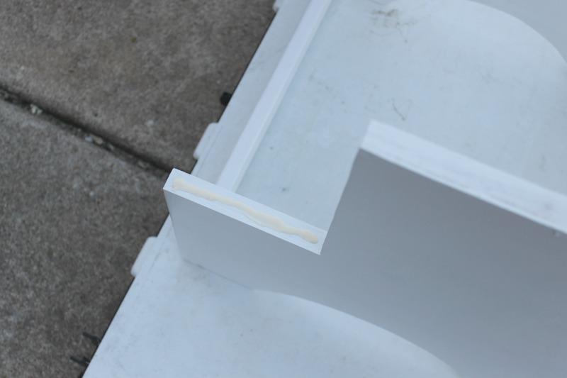 wood glue attach step stool steps