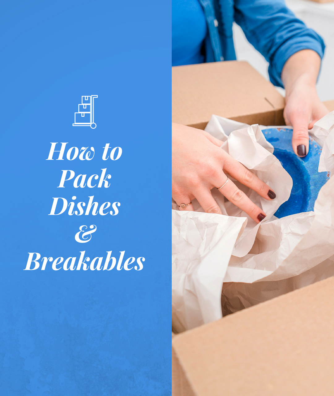 How to use dish packs when packing dishes, glassware and other breakables