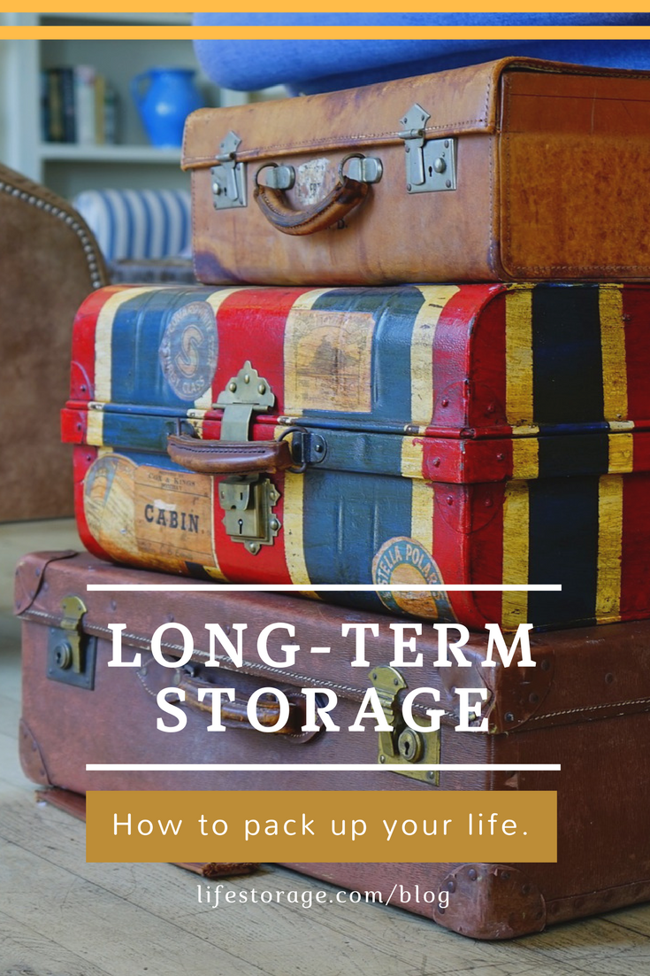 Using a long term storage unit when abroad or traveliing