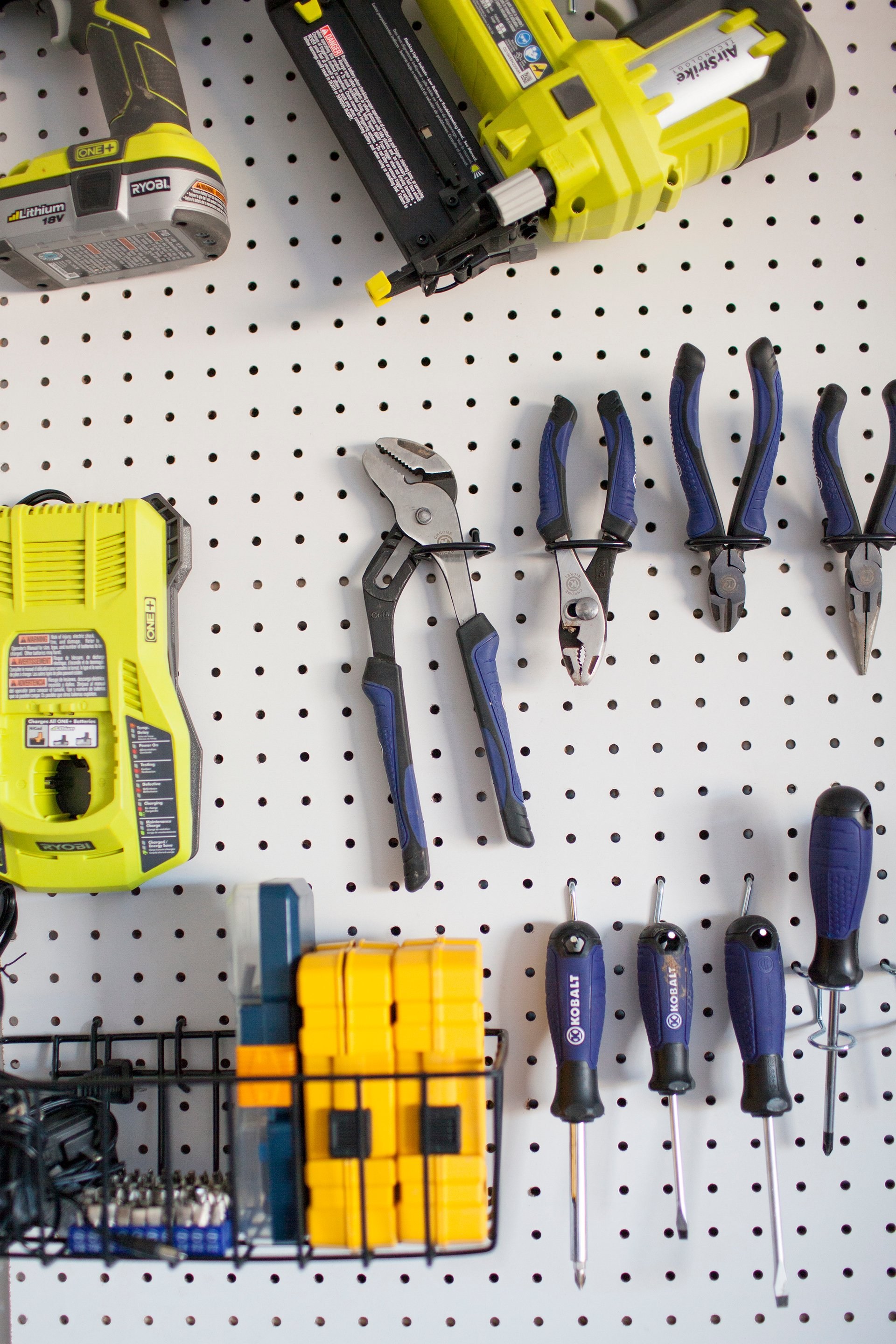 How to organize tools with a garage pegboard life storage blog for an in depth visual of how to make and install your own diy garage pegboard watch this tutorial video solutioingenieria Image collections