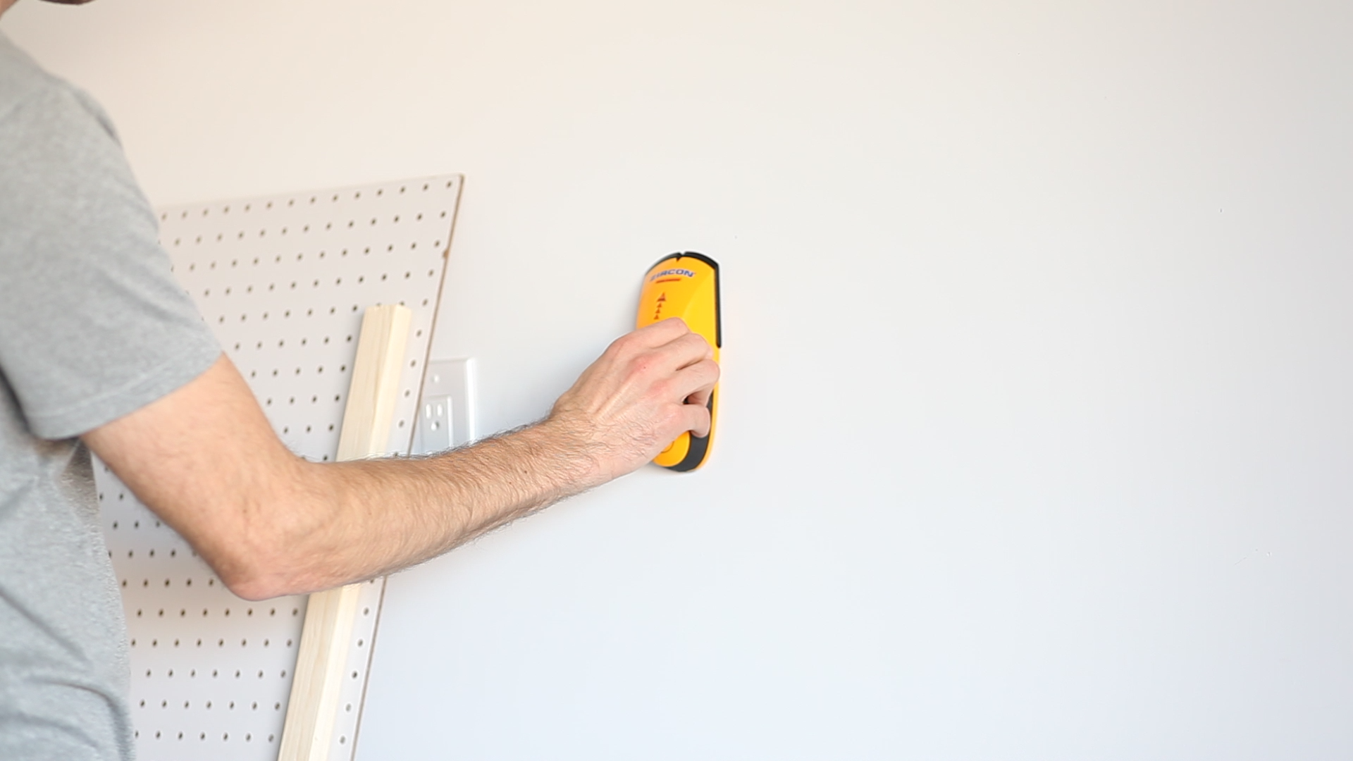 How to organize tools with a garage pegboard life storage blog find and mark studs yellow stud finder solutioingenieria Images