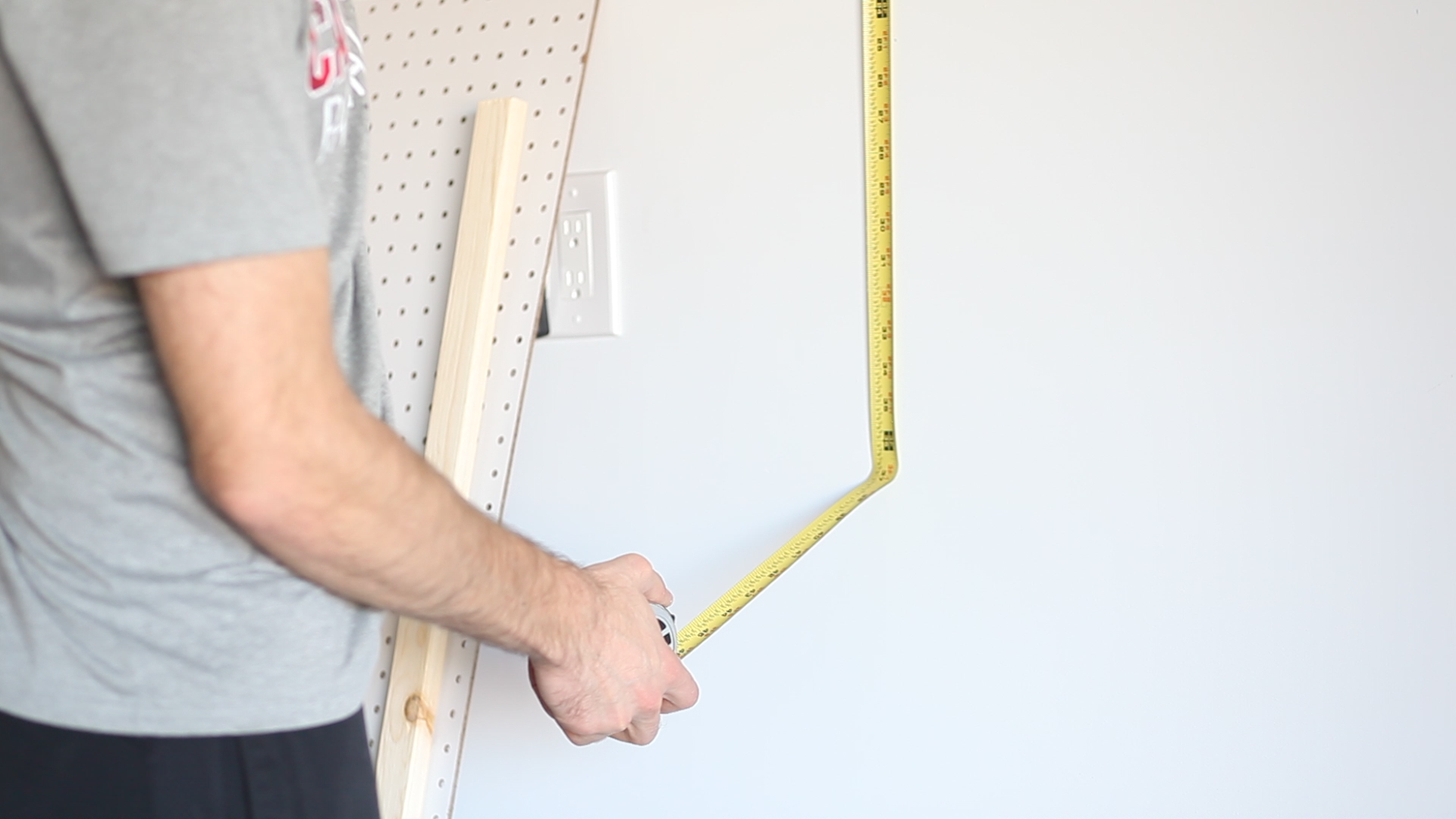measure and mark place for bottom frame board