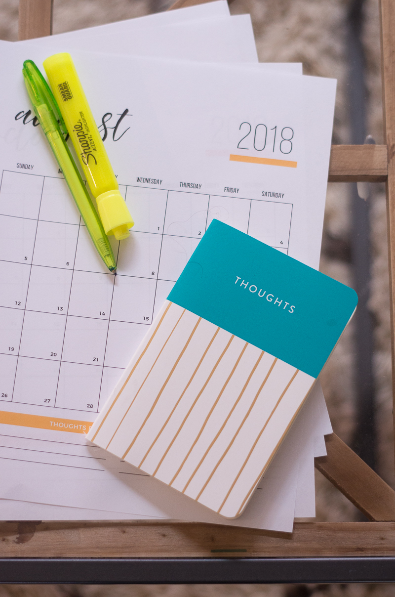 Using a calendar to schedule events truly helps declutter your life