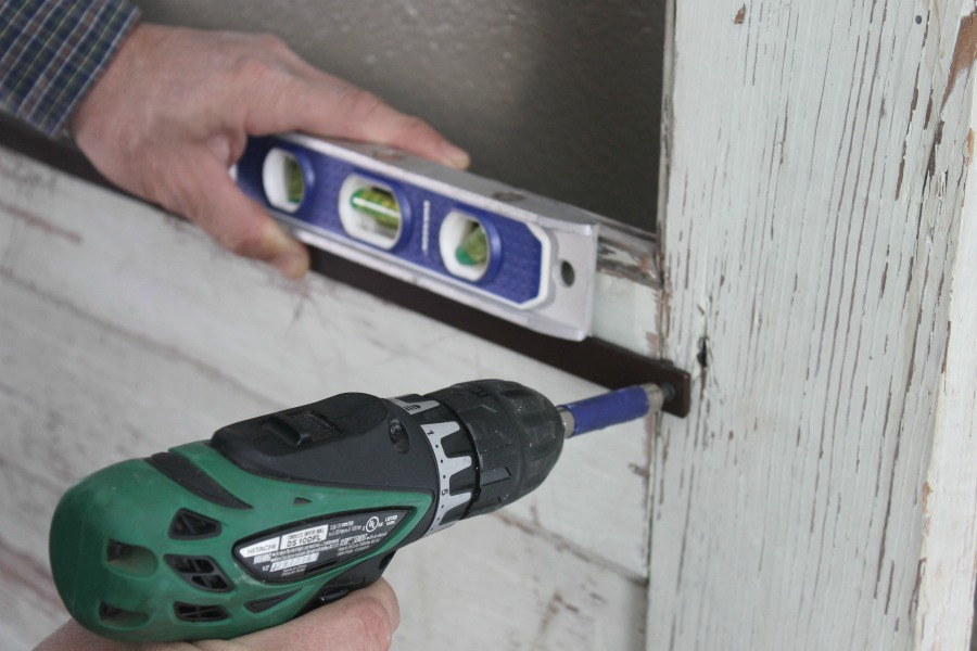level power screwdriver old door upcycle
