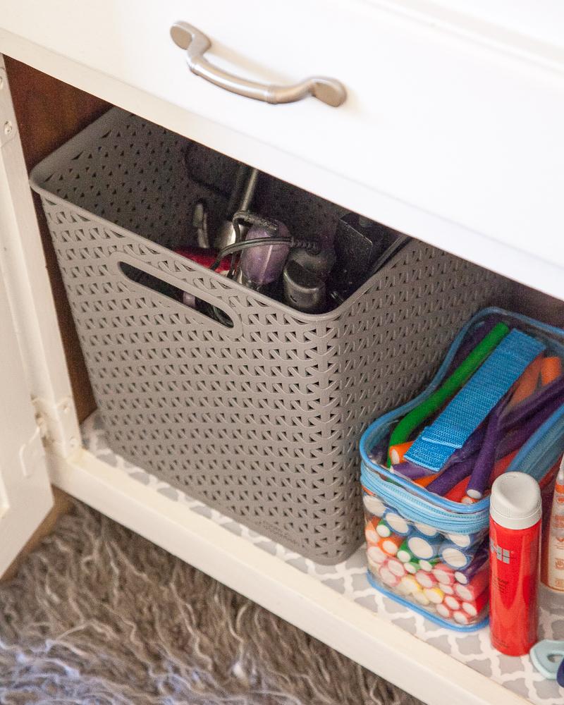 Baskets Under the Sink - Bathroom Storage Ideas