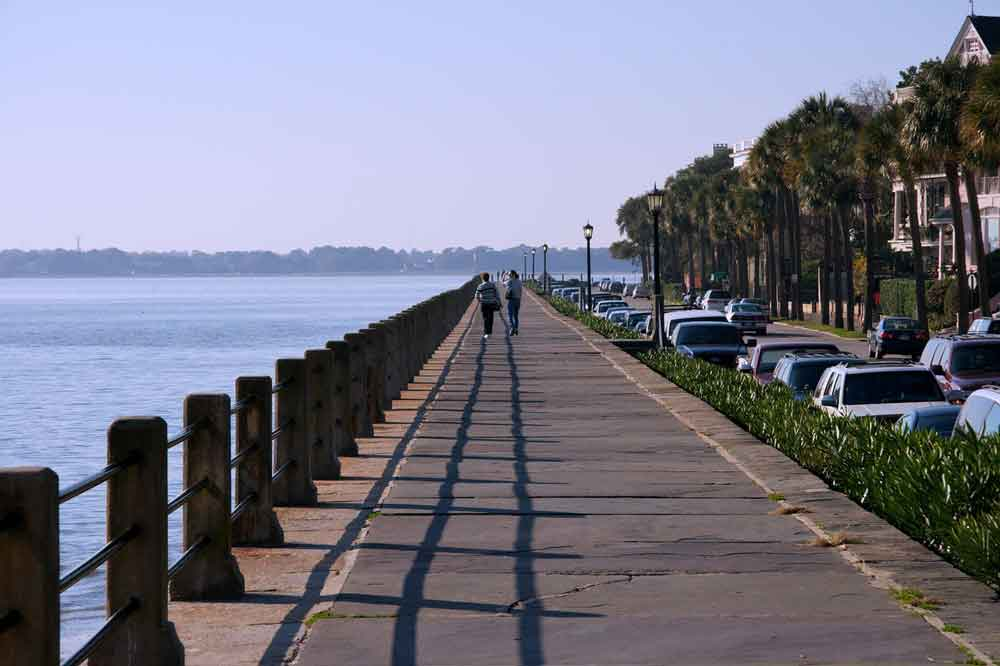 Boardwalk in Charleston SC where the weather is always beautiful