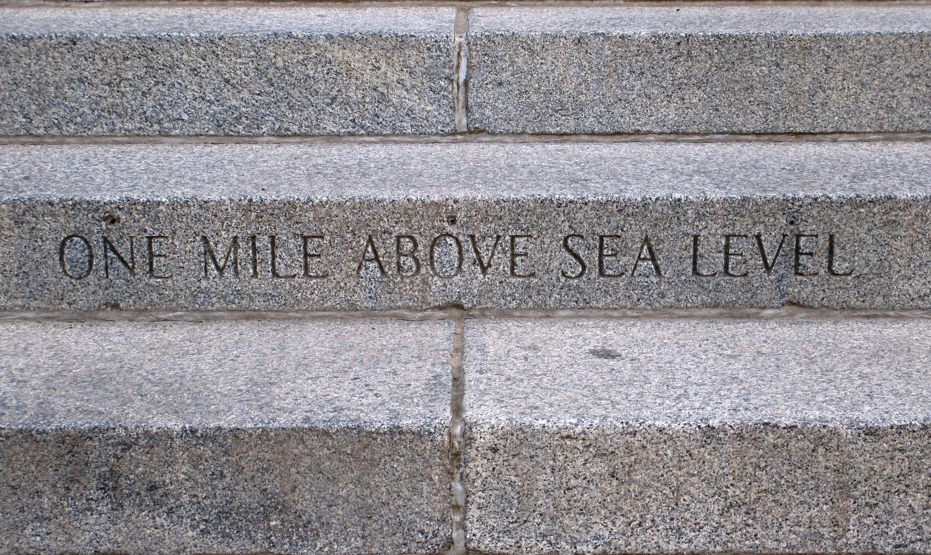 Denver - One Mile Above Sea Level Engraving