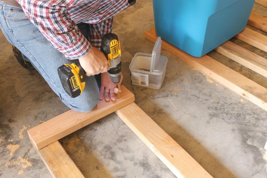 DIY Garage Storage Shelves - Build the Side