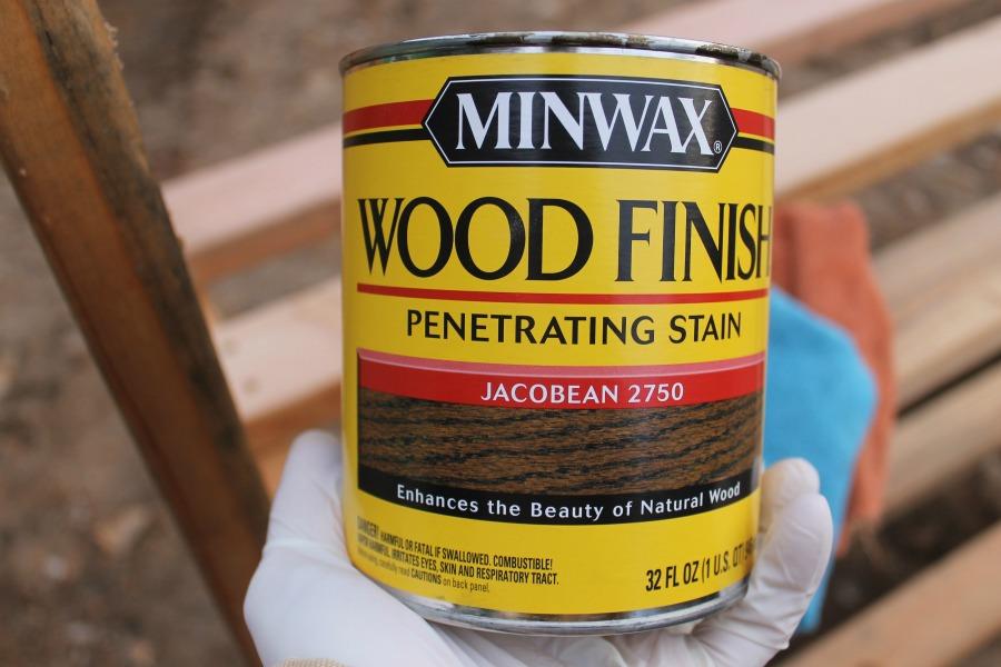 DIY Garage Storage Shelves - Minwax Wood Finish Penetrating Stain