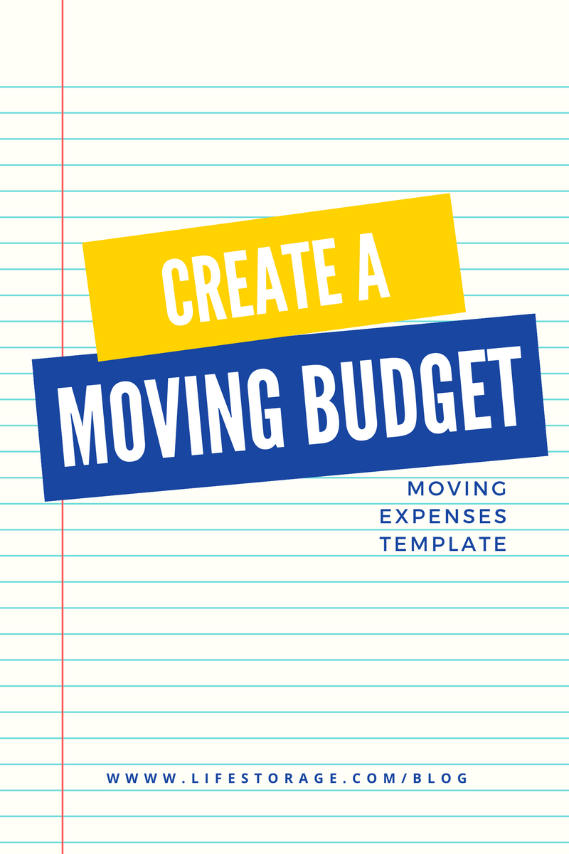 How to create a moving budget template using common moving costs