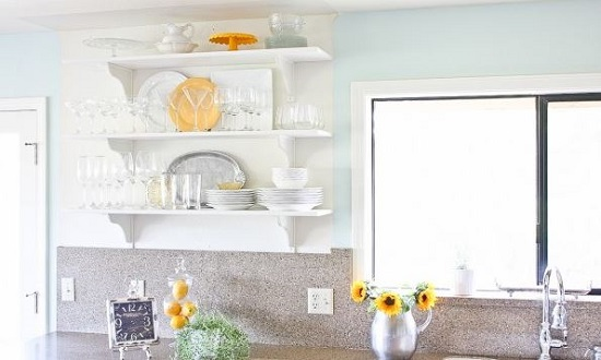 Spring Cleaning Tips - Bright Colors and Flowers in the Kitchen