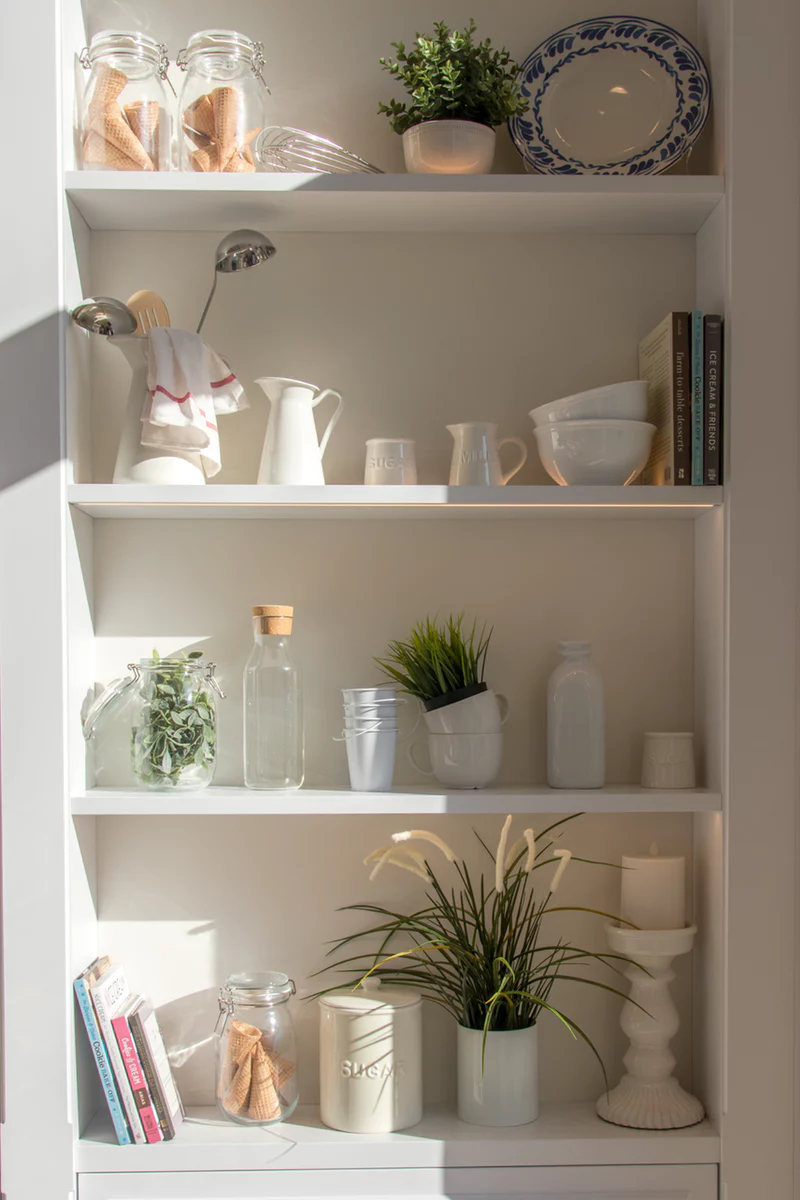 Spring Cleaning Tips - Open Shelving and Storage Space