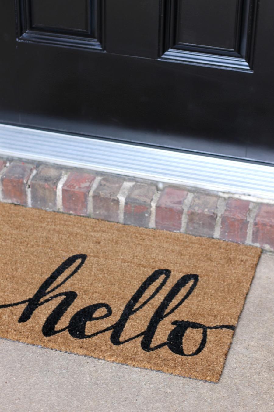 Curb Appeal Ideas - Buy a Fresh Doormat