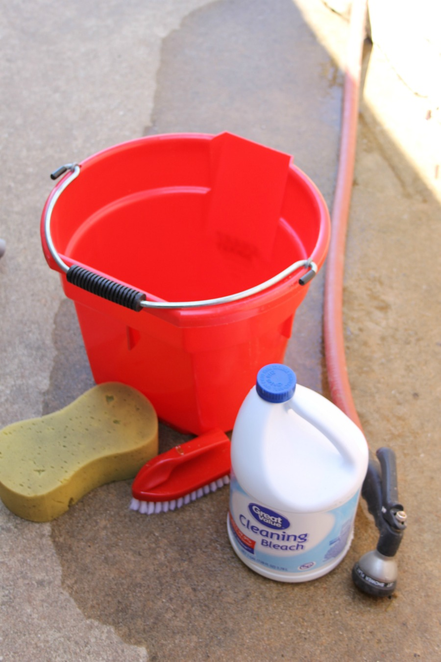 Curb Appeal Ideas - Use Bleach and Water to Clean Grime Off Eaves and Overhangs