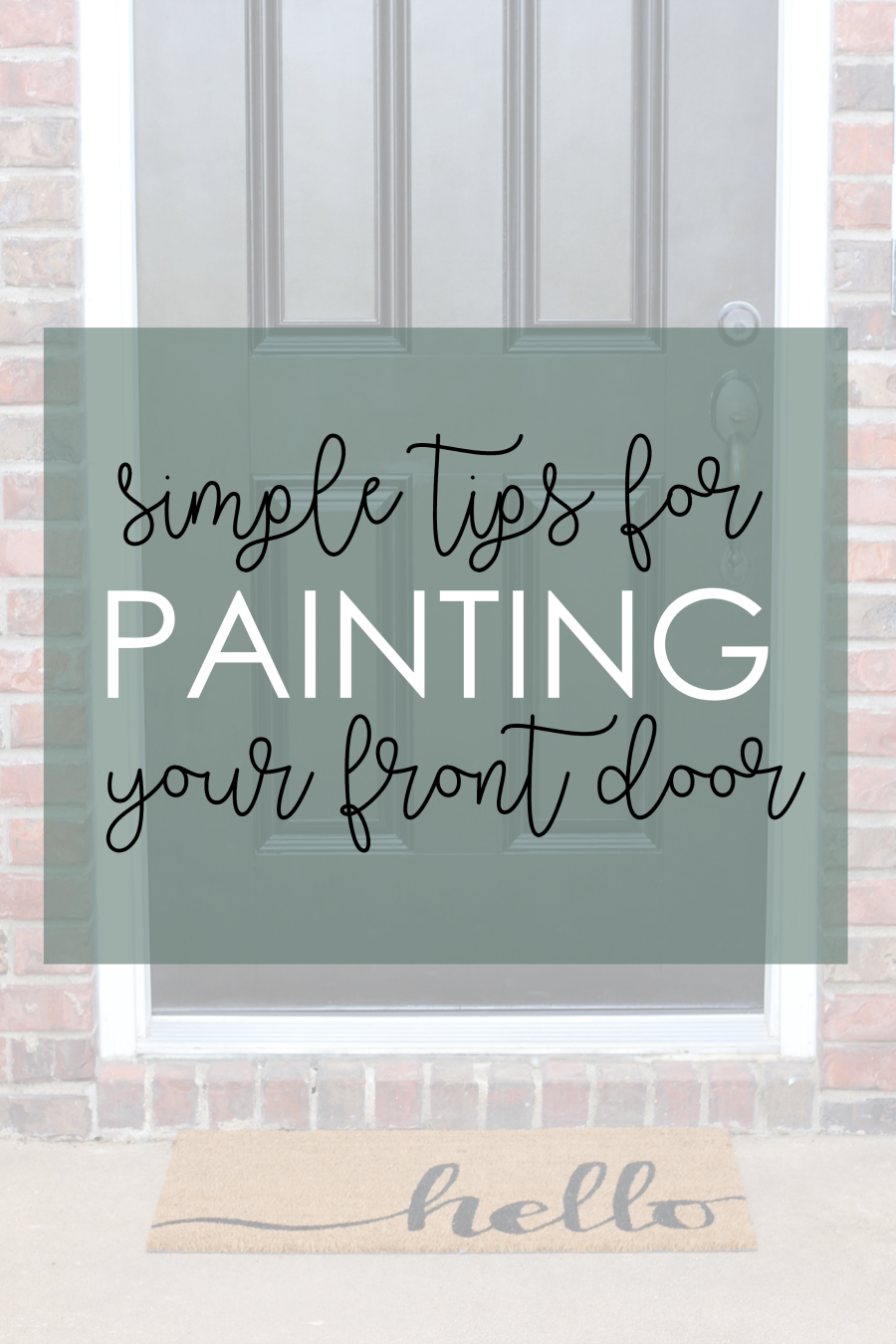 Simple Tips to Keep In Mind While Repainting a Front Door