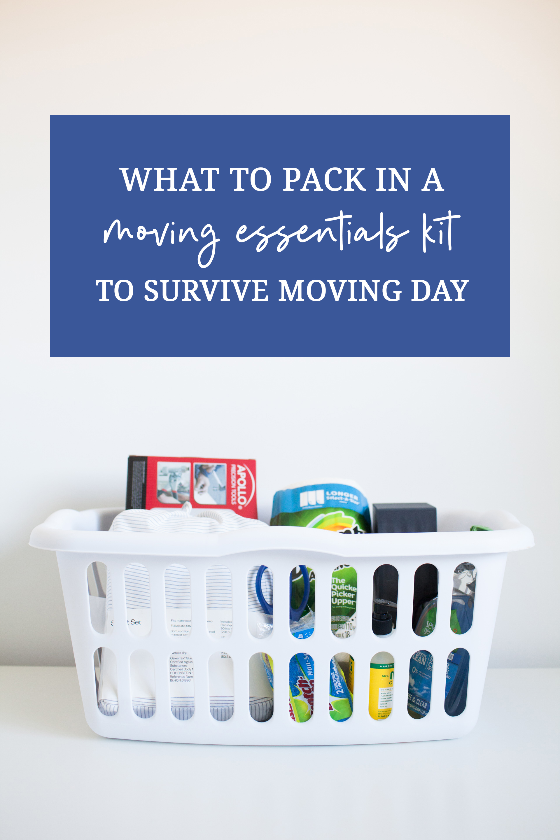 7 Things You Need on Moving Day - Moving Essentials Kit