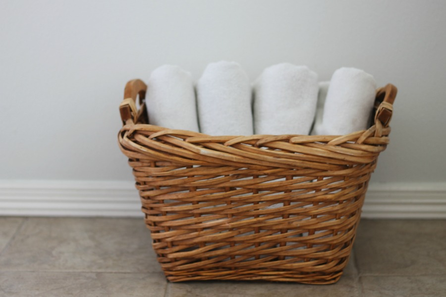 Placing Bulky Towels In Baskets Can Make For An An Easy Organization  Solution When It Comes